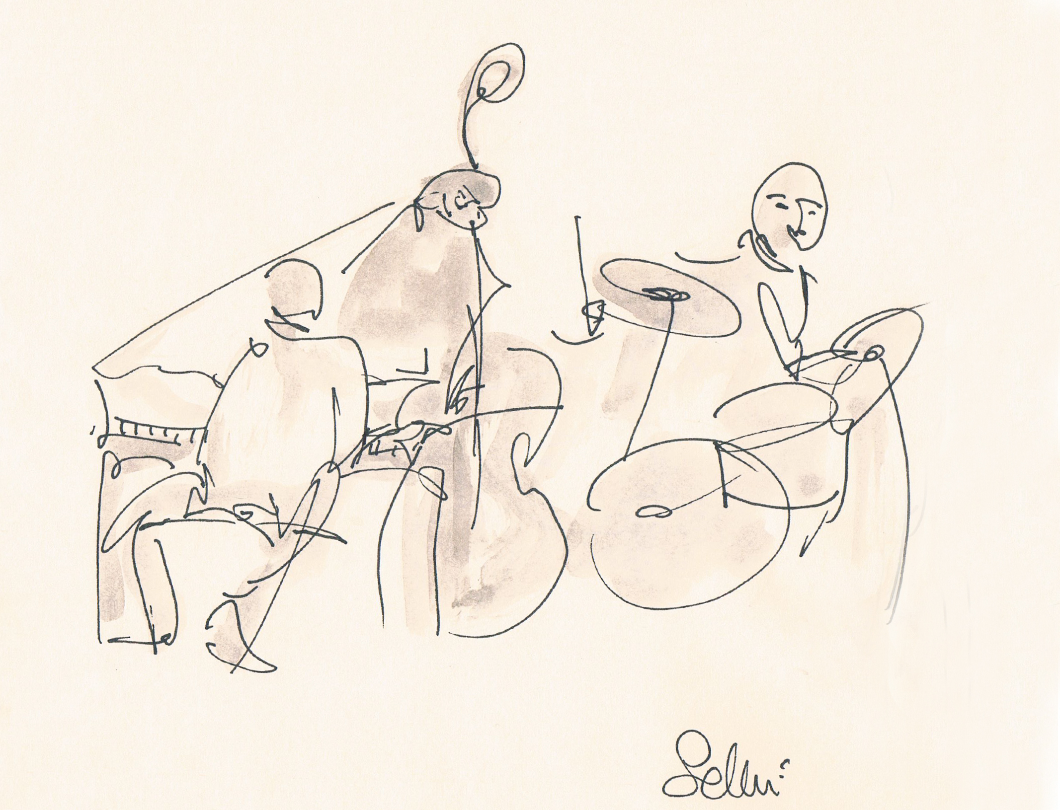 jazz drawings band 1